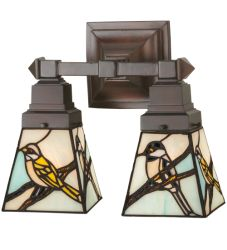 """12""""W Early Morning Visitors 2 Lt Wall Sconce"""