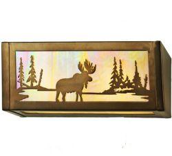 """16""""W Moose At Lake Vanity Light"""