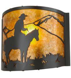 """11""""W Cowboy Wall Sconce"""