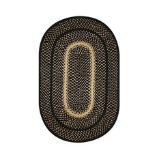 "Homespice Decor 27"" x 45"" Oval Manchester Jute Braided Rug"