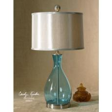 Meena Clear Ocean Blue Table Lamp