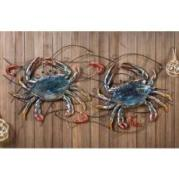 Metal Crab and Shrimp Wall Decor