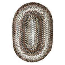 Homespice Decor 8' x 10' Oval Midnight Moon Ultra Durable Braided Rug