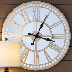 Mirror Clock-Cream