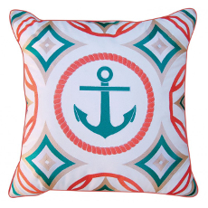Modern Anchor Pillow - Outdoor Sunbrella®