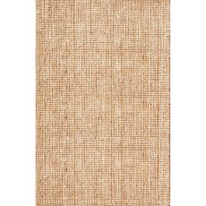 Naturals Solid Pattern Ivory/White Jute Area Rug (10X14)