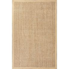 Naturals Solid Pattern Taupe/Tan Jute Area Rug (9X12)