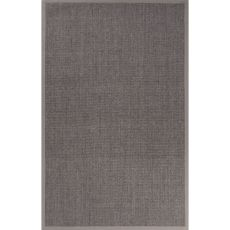 Naturals Solid Pattern Gray Sisal Area Rug (9X12)