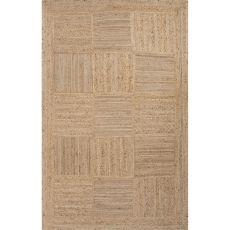 Naturals Tribal Pattern Taupe/Tan Jute Area Rug (9x12)