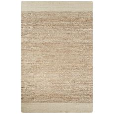 Naturals Border Pattern Ivory/Natural Jute Area Rug (9x12)