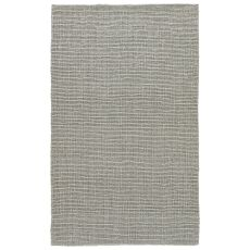 Youth Stripes Pattern Gray/Silver Jute Area Rug ( 9X12)