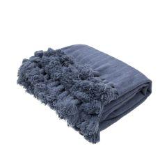 "Blue Wool Throw (50""x60"")"