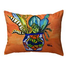 Cactus in Pot Large Noncorded Pillow 16x20