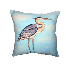 Blue Heron On Stump No Cord Pillow
