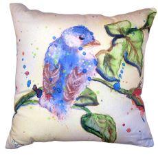 Betsy'S Blue Bird No Cord Pillow