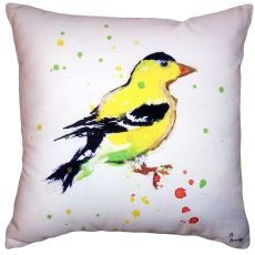 Betsy'S Goldfinch No Cord Pillow