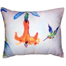 Hummingbird & Trumpet Vine No Cord Pillow