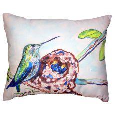 Hummingbird & Chicks No Cord Pillow