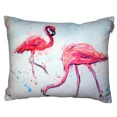 Funky Flamingos No Cord Pillow