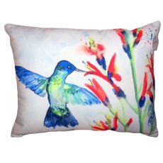 Hummingbird & Fire Plant No Cord Pillow