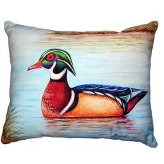 Male Wood Duck Ii No Cord Pillow