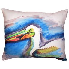 White Pelican Head No Cord Pillow