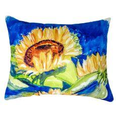 Gold Rising Sunflower No Cord Pillow 16X20