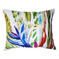 Abstract Bird Of Paradise No Cord Pillow 16X20