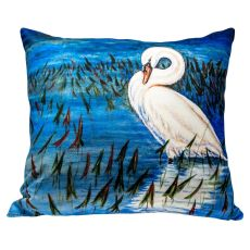 Mute Swan No Cord Pillow 18X18