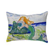 Mermaid On Rock No Cord Pillow 16X20