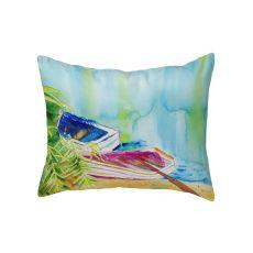 Watercolor Rowboats No Cord Pillow 16X20