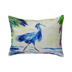 Blue Egret No Cord Pillow 16X20
