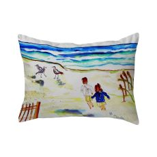 Running At The Beach No Cord Pillow 16X20