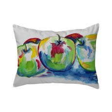 Three Apples No Cord Pillow 16X20