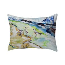 Sandpipers & Heron No Cord Pillow 16X20