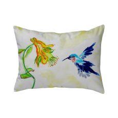 Hummingbird & Yellow Flower No Cord Pillow 16X20