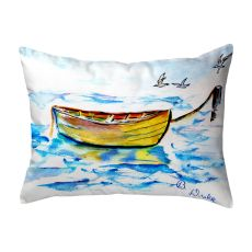 Yellow Row Boat No Cord Pillow 16X20
