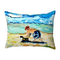 Boy & Toy No Cord Pillow 16X20