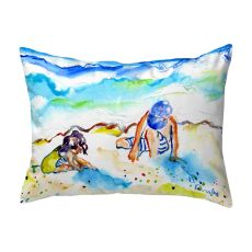 Playing in Sand No Cord Pillow 16x20
