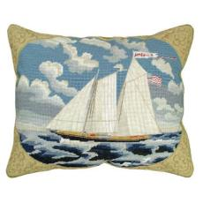 America Needlepoint Pillow