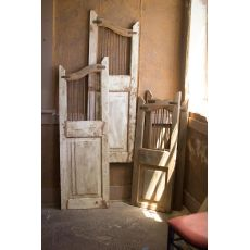 Repurposed Matching Wood And Iron Saloon Doors, Set of 2