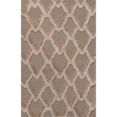 Flatweave Tribal Pattern Neutral/Tan Wool Area Rug (8X10)