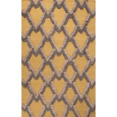Flatweave Tribal Pattern Yellow/Gold Wool Area Rug (8X10)
