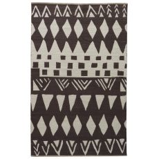 Contemporary Tribal Pattern Brown/Neutral Cotton Area Rug ( 8X11)