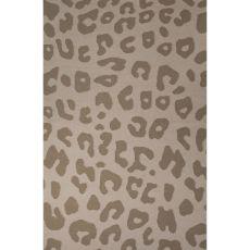 Flatweave Animal Pattern Tan Wool Area Rug (8X10)