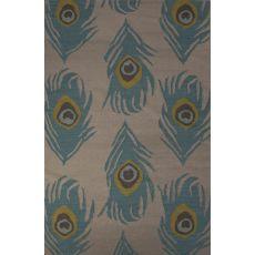 Flatweave Animal Pattern Blue Wool Area Rug (8X10)