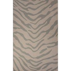 Flatweave Animal Pattern Gray Wool Area Rug (8X10)