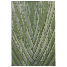 Contemporary Abstract Pattern Green Polypropylene and Polyester Area Rug ( 7.6x9.6)