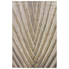 Contemporary Abstract Pattern Gray/Silver Polypropylene and Polyester Area Rug ( 7.6x9.6)