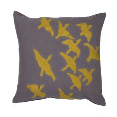 "Animal Print Pattern Gray/Yellow Cotton Down Fill Pillow ( 20""x20"")"